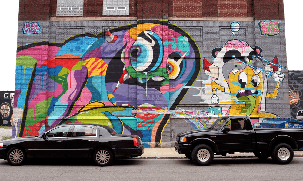mural in the market by Patch Whisky x Ghostbeard