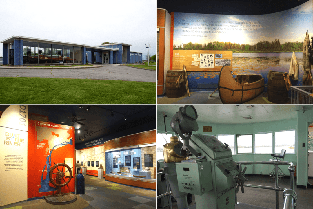 exhibits inside the Dossin Great Lakes Museum