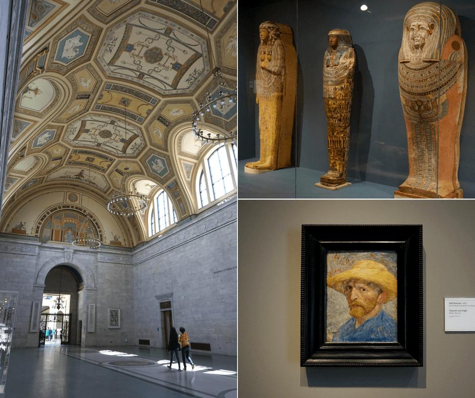 inside the Detroit institute of arts, mummies, van gogh