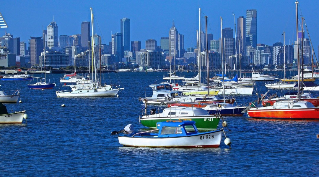 Melbourne water and boats