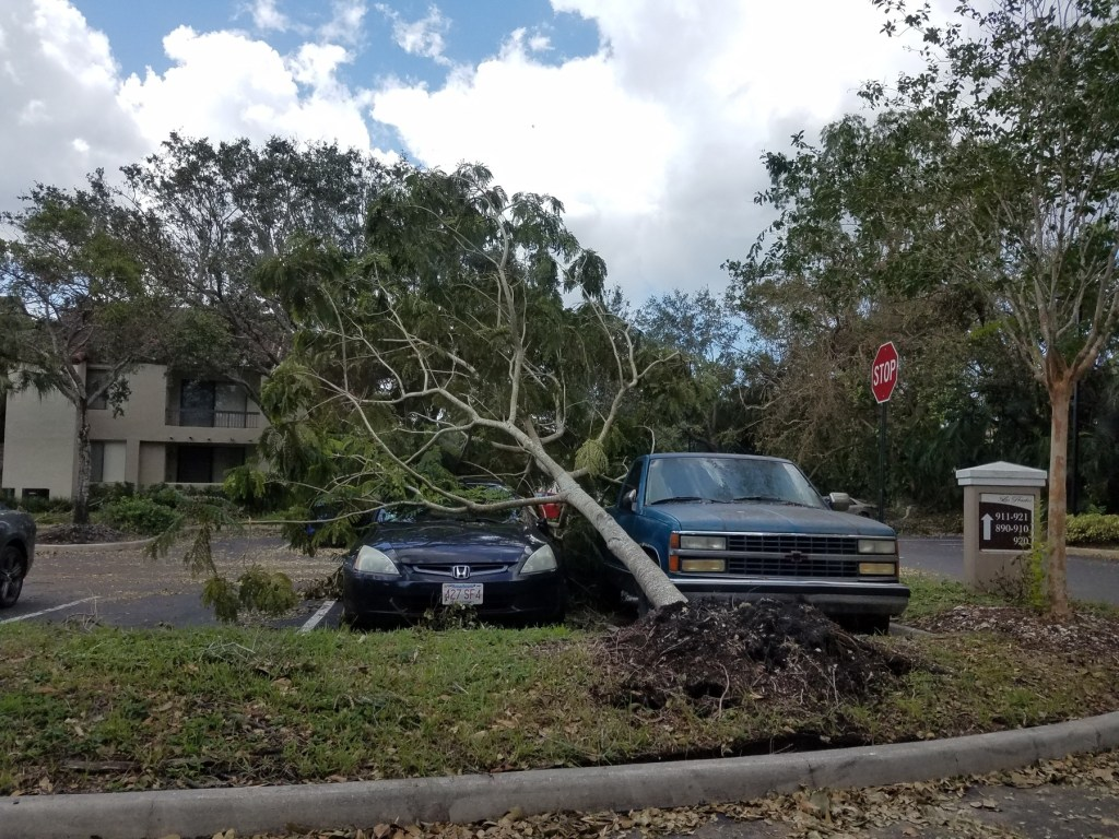 Los Prados Apartments in Plantation after Hurricane Irma