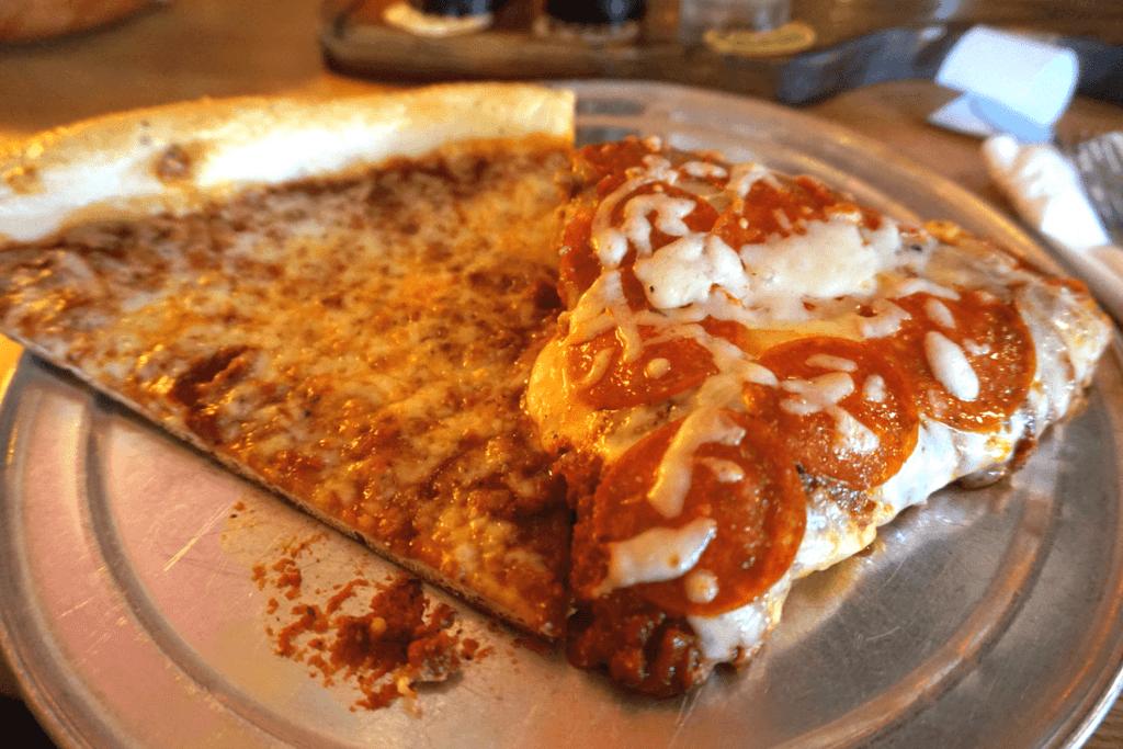 Regular and Satch pan pizza