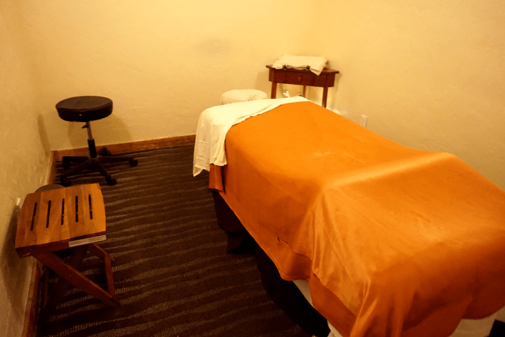 massage table at PGA National resort and spa