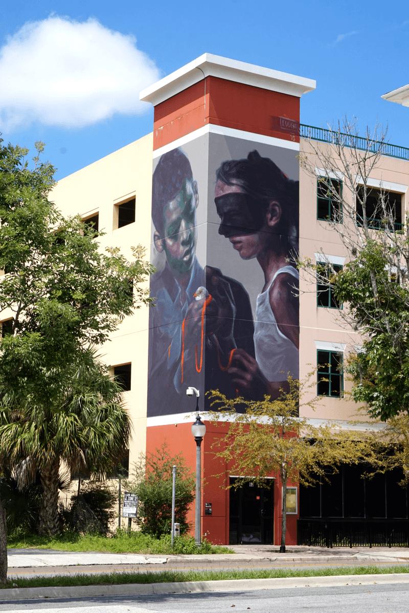 Elio Mercado, Evoca1 mural in Gainesville
