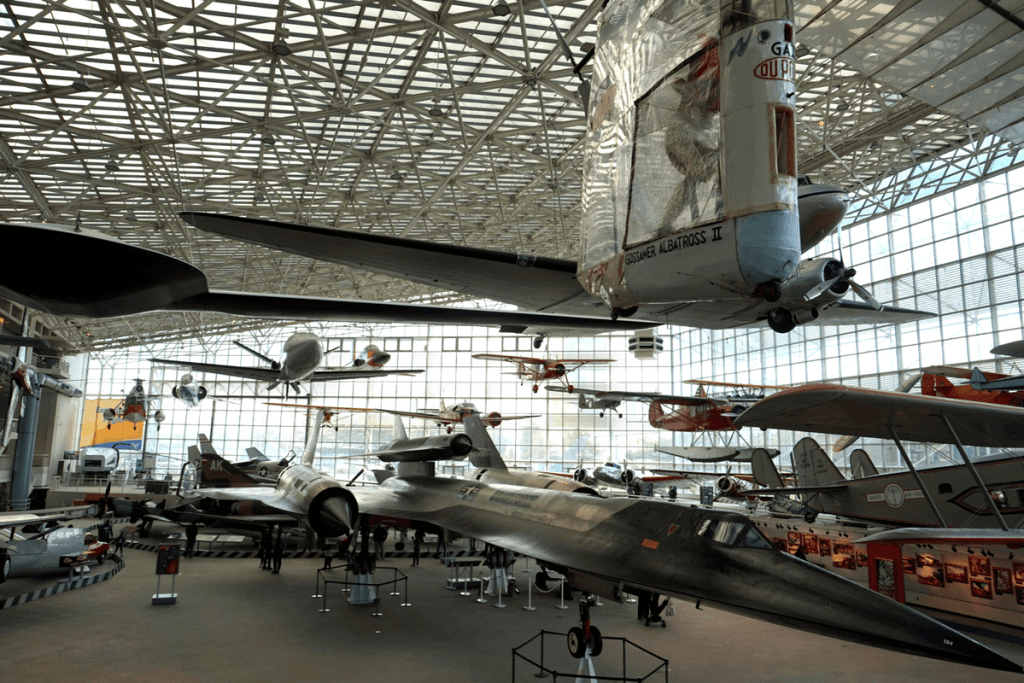 plane exhibits at the museum of Flight