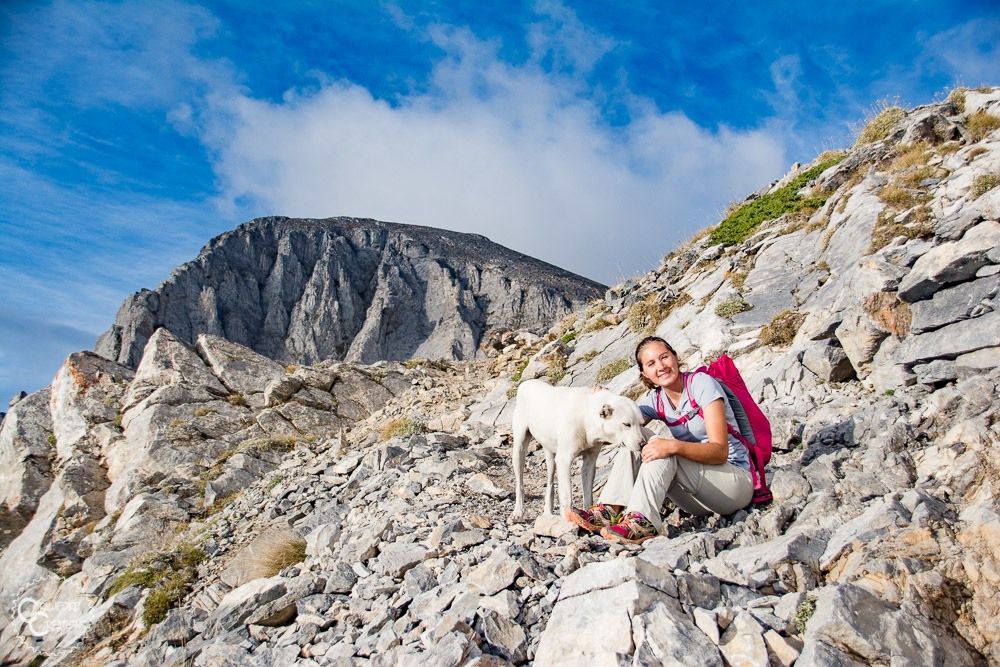 Hiking to the summit of Mt. Olympus, Greece