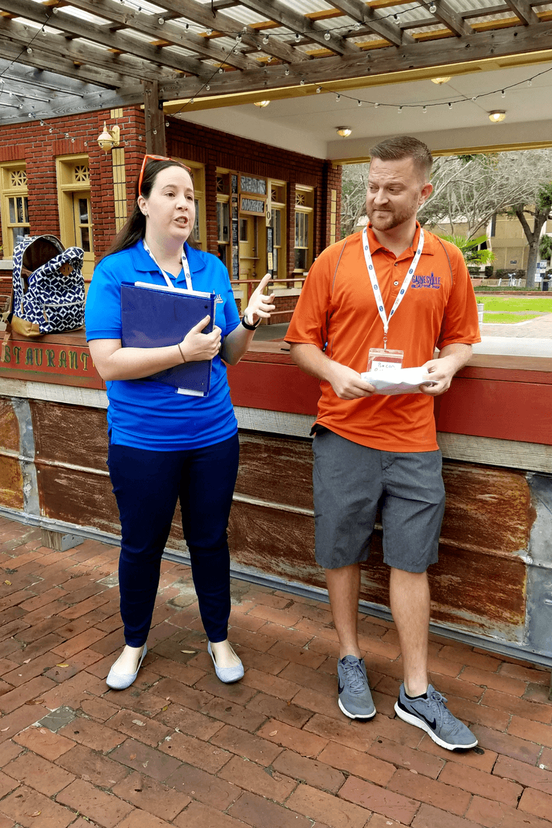 Caroline and Ryan, creators of Gainesville Food Tour, one of the best tours in Gainesville