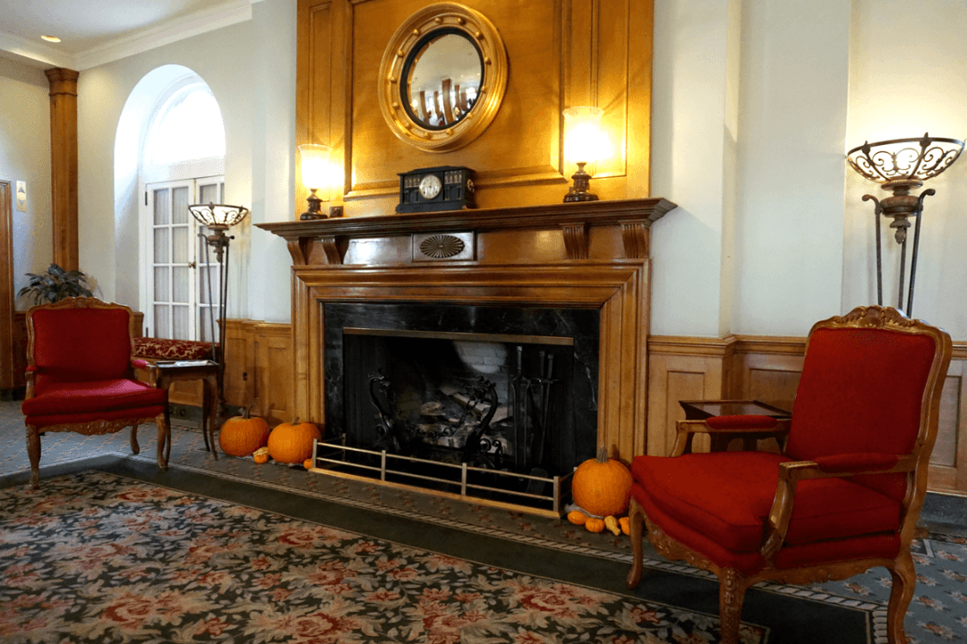 The lobby of The Hotel Northampton