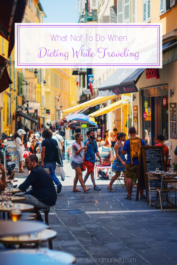 Dieting while traveling can be difficult. In this post, we offer tips to help you stay on track even while you're away from home.