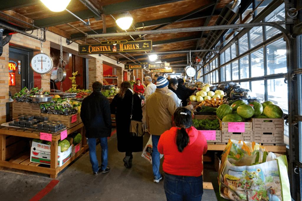 Plenty of fresh items at the farmer's market at Historic City Market