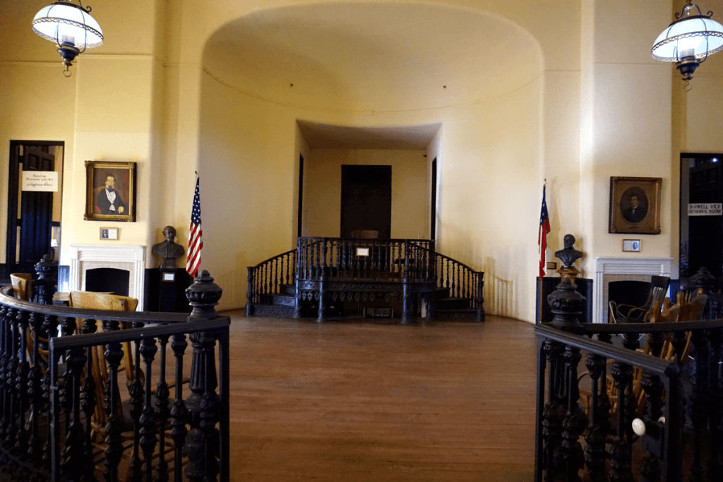 Inside the old court house in Vicksburg