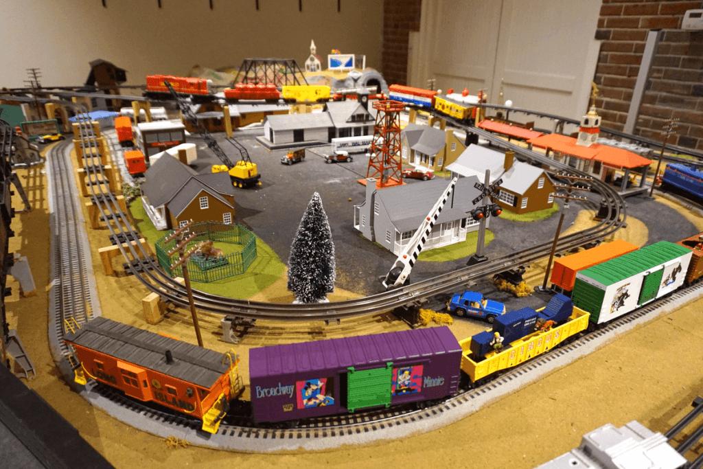 There were quiet a few train sets in the Old Depot Museum