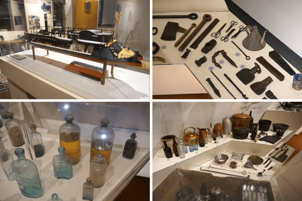 Items found inside the USS Cairo