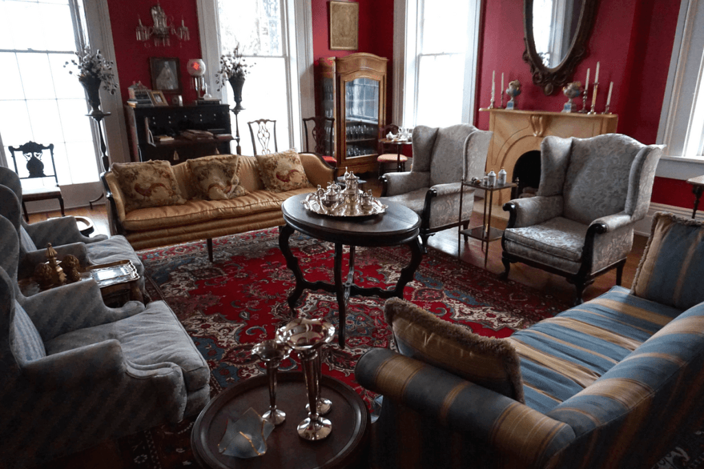 One of the sitting areas inside The Duff Green Mansion