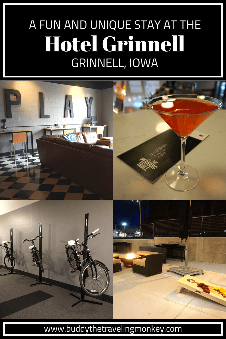 The Hotel Grinnell is one of the most unique hotels in Iowa. Once a school, this now chic and upscale hotel is all about having fun!