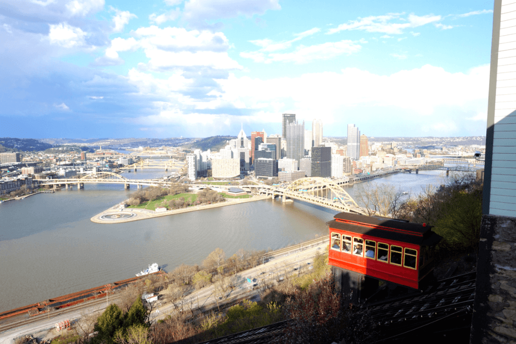 Riding the Duquesne Incline is one of the top things to do in Pittsburgh