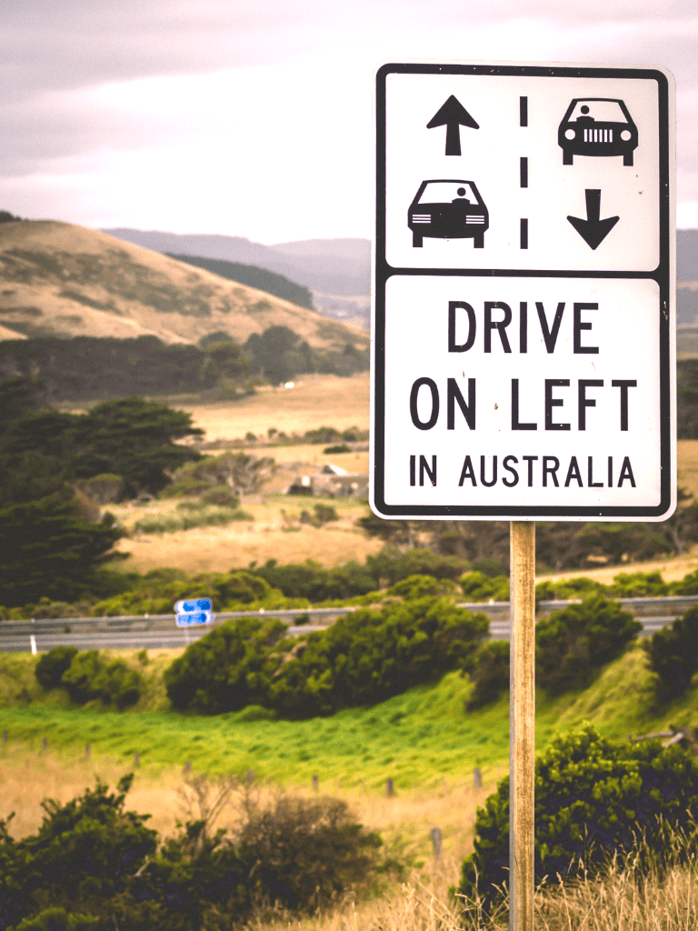 While on the ultimate Australian road trip, remember to drive on the left