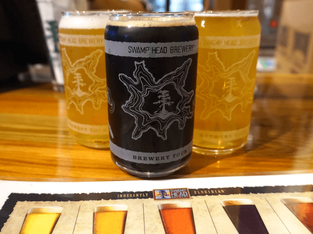 Lots of beer choices at this Gainesville brewery