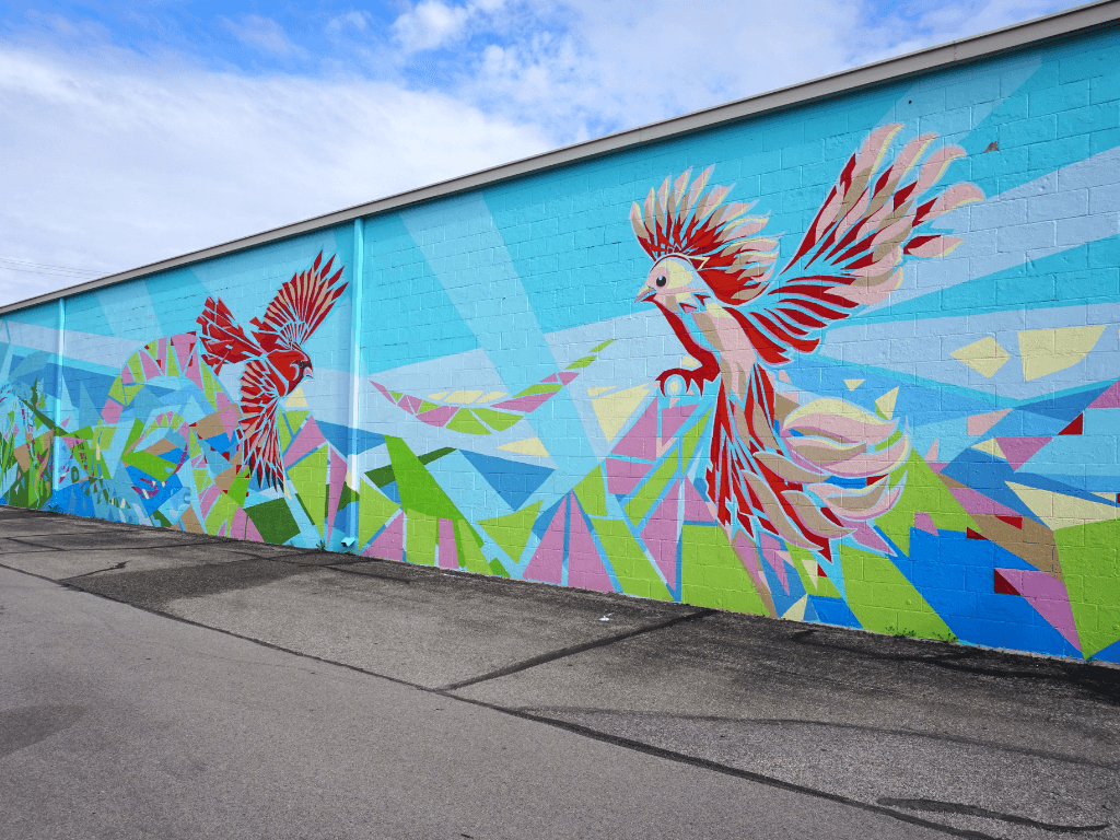 One of our favorite murals in Fort Wayne, Indiana