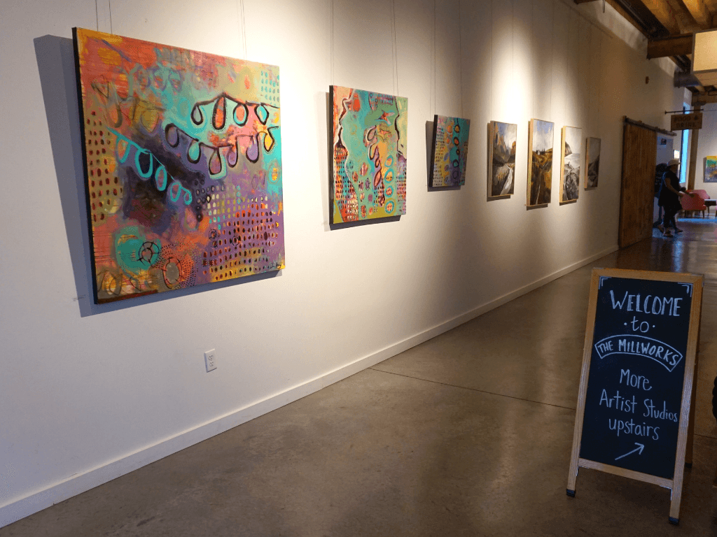 A gallery displays work done by local artists
