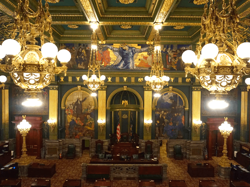 Senate Chamber from the viewing area