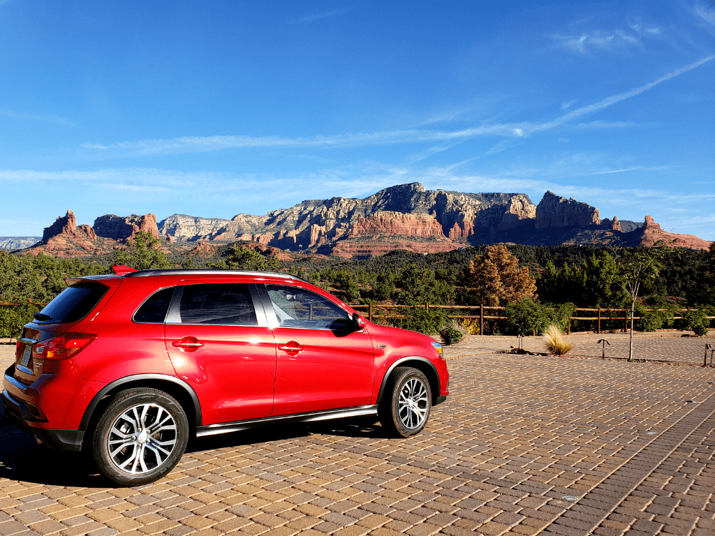 The view from Mariposa's parking lot is one of the best views of Sedona