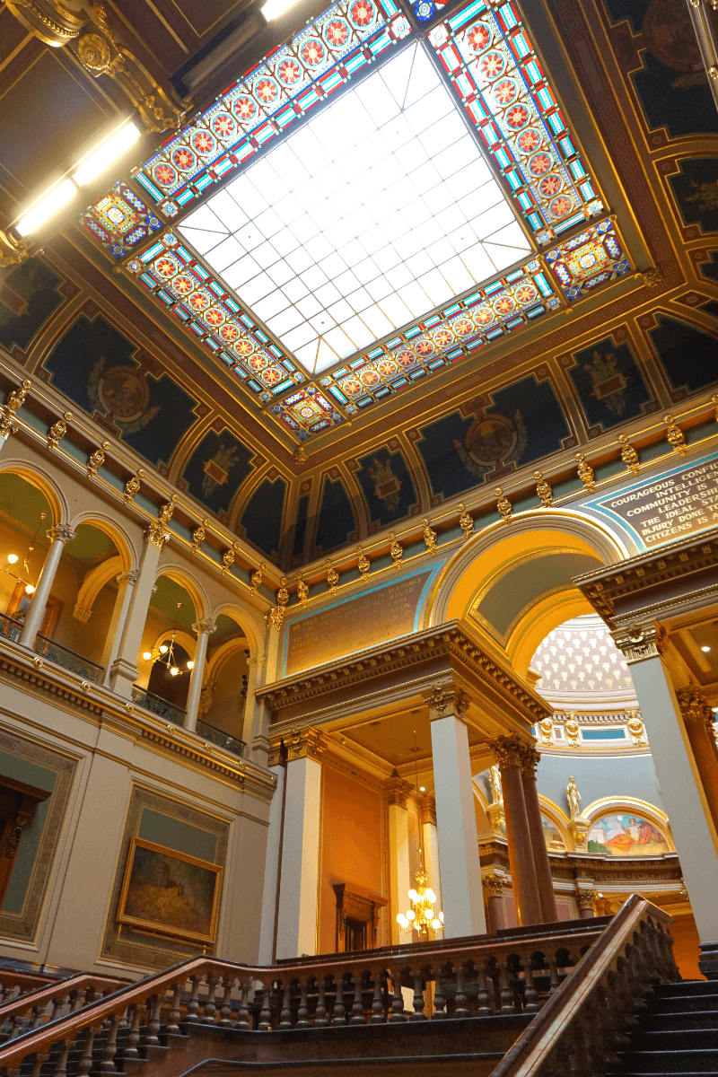 Lots of amazing artwork and details inside the Iowa State Capitol
