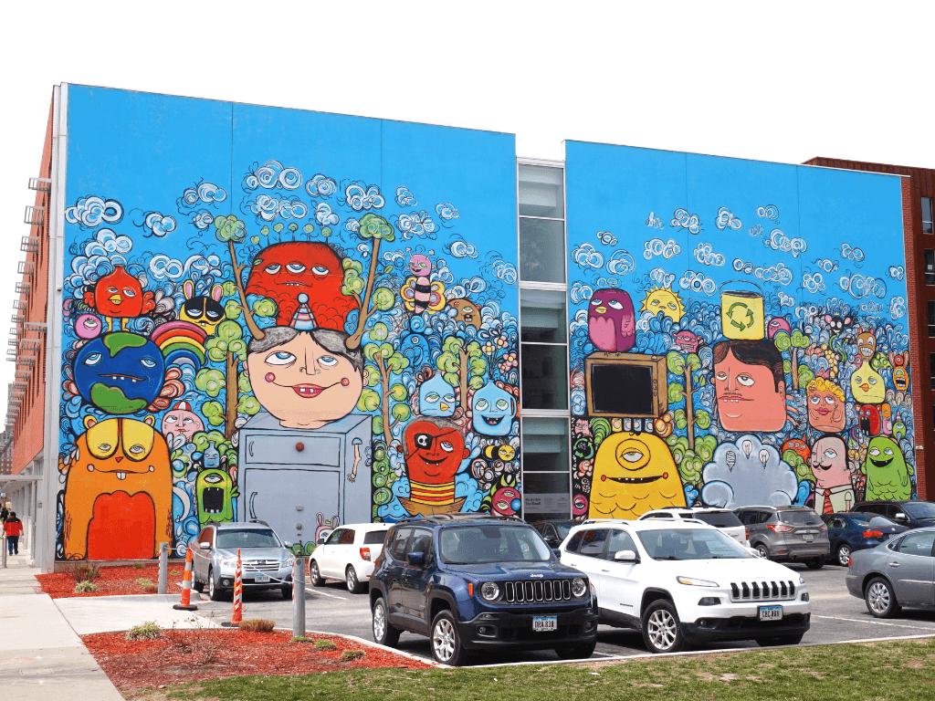 More fun street art in Des Moines Iowa