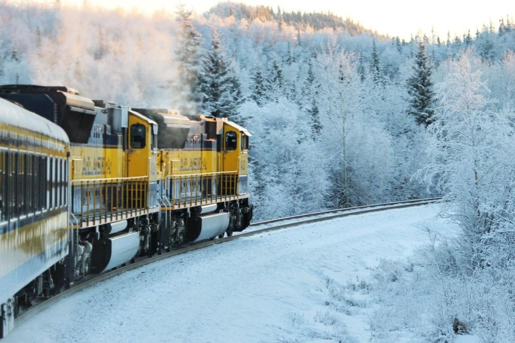 Aurora Winter Train in Alaska is one of the underrated winter destinations in the US