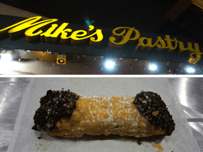 Your perfect day in Boston should end at Mike's Pastry. Holy cannoli! This Oreo cannoli was amazing!