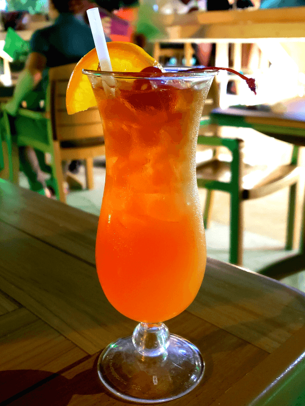 Rum Punch at Danny Bouys, one of the best Providenciales bars