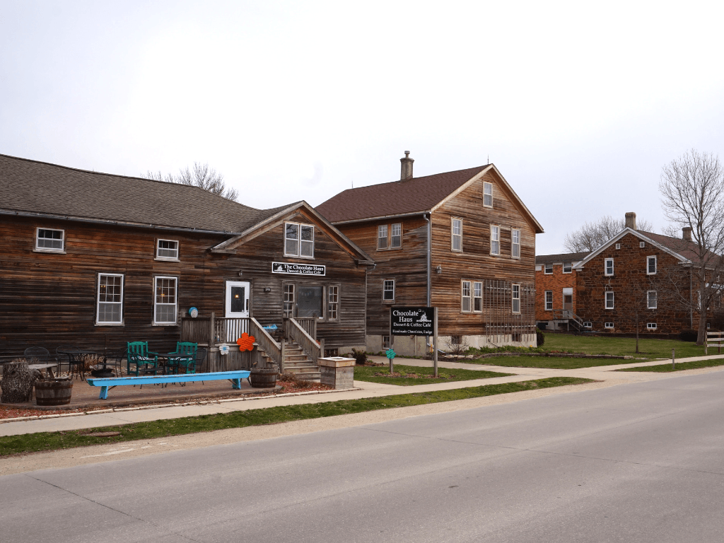 Enjoy a walk by many of the charming shops at the Amana Colonies