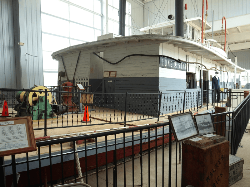 Lone Star Stern Wheeler (one of the longest running wooden steamboats in the US)
