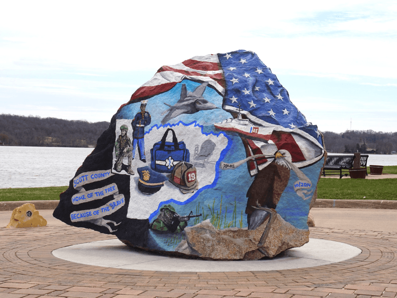 Scott County Freedom Rock in LeClaire, Iowa