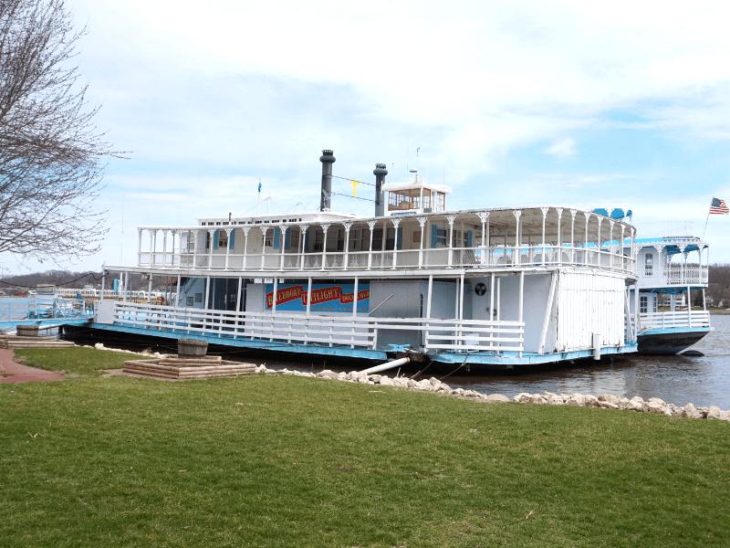 Riverboat Twilight in LeClaire, Iowa