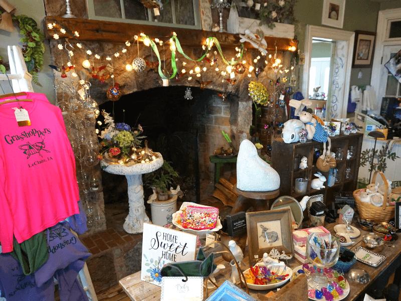 SO many cute and unique items at Grasshopper's in LeClaire, Iowa