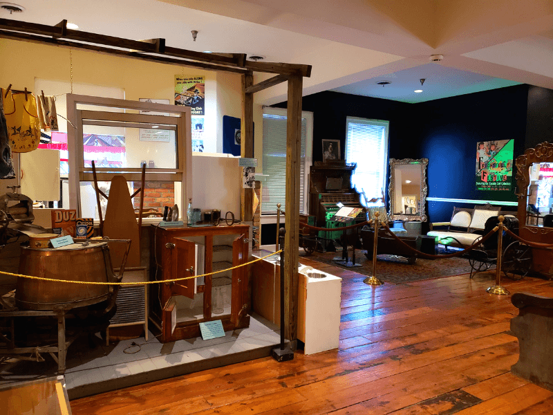 The Homelife Gallery of the Marietta Museum of History has antiques and artifacts that were popular in everyday life during the 19th and 20th Centuries.