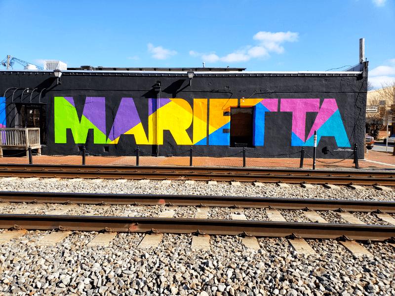 Colorful Marietta Mural