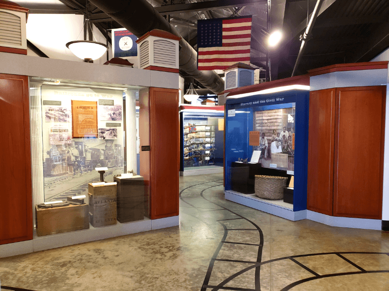 Many interesting artifacts and exhibits about the role trains played in the Civil War