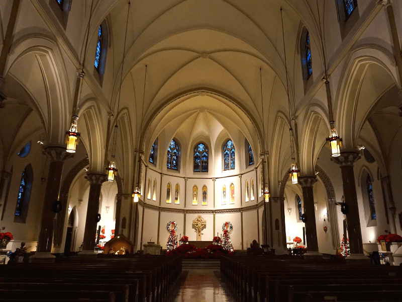Inside St Patrick's Catholic Church in Washington DC