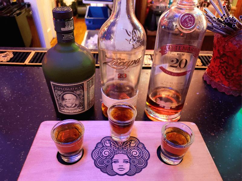 Rum flight at The Rum Bar in Key West