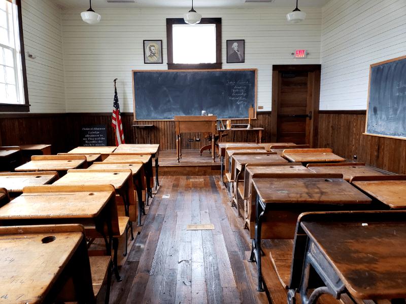 Replica of a Rosenwald School in Huntsville Alabama