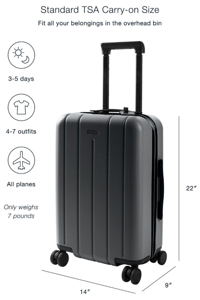 The Chester Carry-On suitcase is compact but roomy inside making it the best cabin luggage