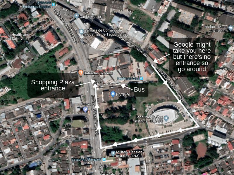 Hedman Alas Tegucigalpa bus station