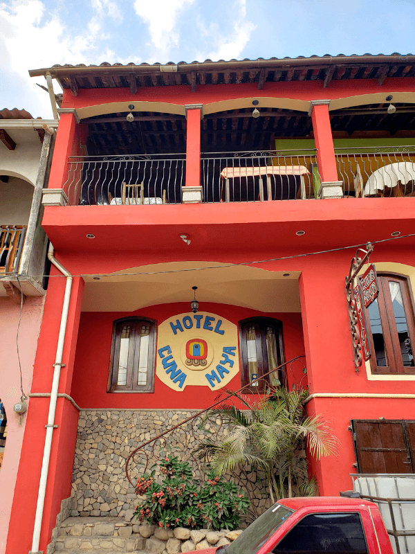 Hotel Cuna Maya is where to stay in Copan Ruinas Honduras