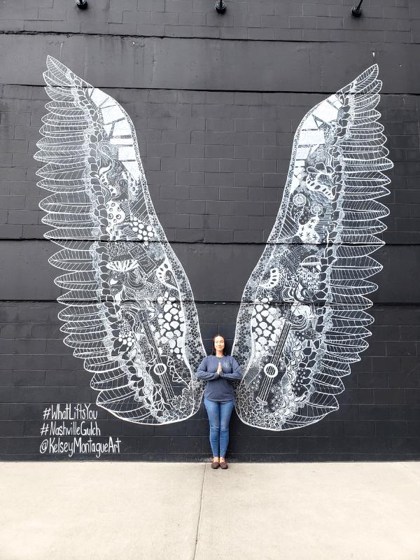 Beautiful angel wings art in Nashville