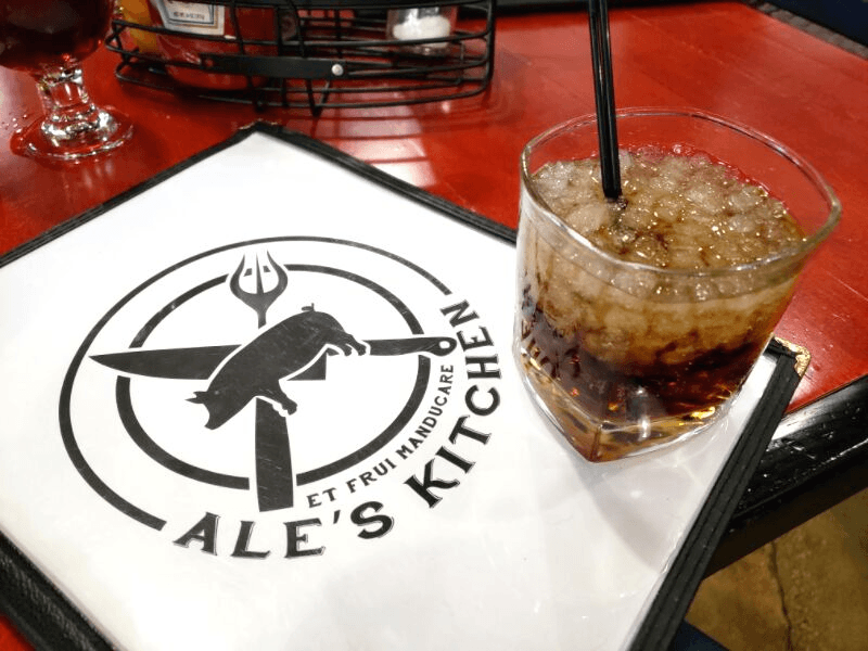 Rum and Coke at Ale's Kitchen, one of the best Huntsville restaurants