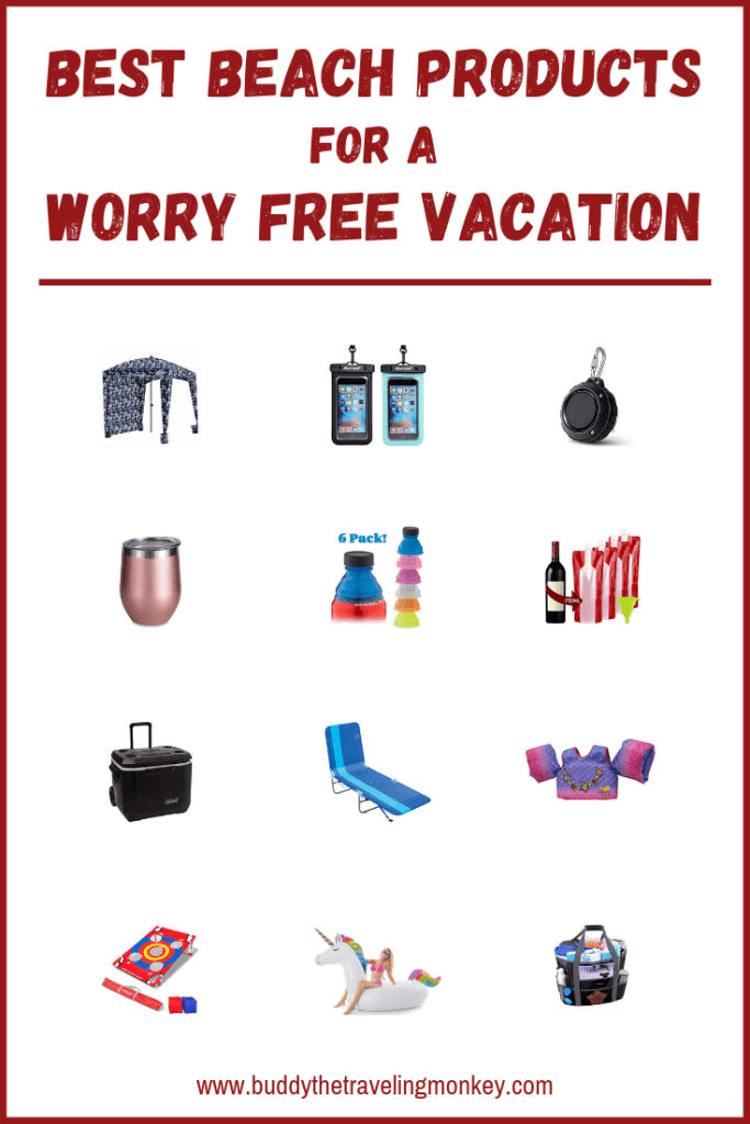 The best beach products will ensure you have a worry free vacation. We list everything from portable wine bottle bags to kids swim vests!