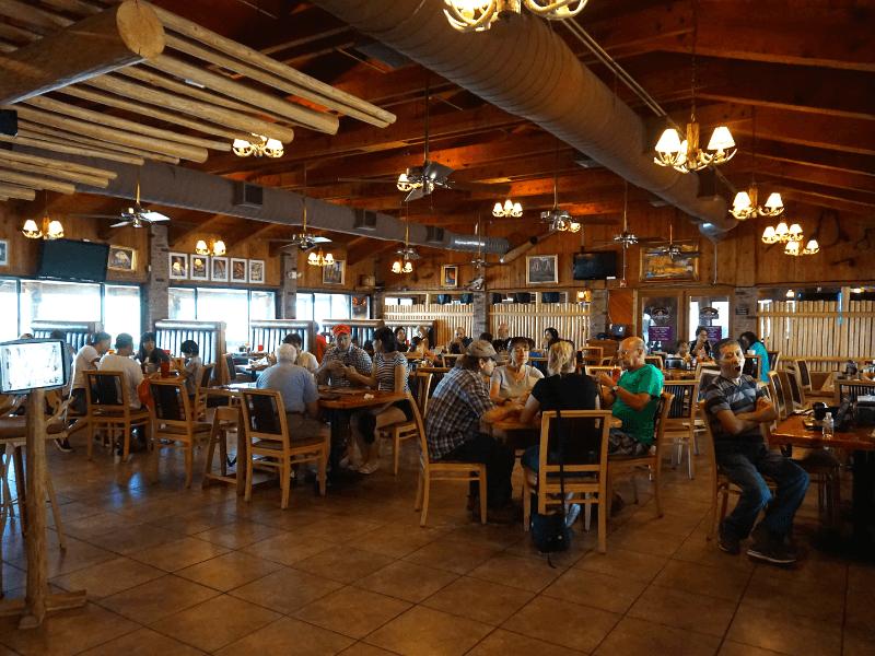Inside the Swamp Water Cafe, the Billie Swamp Safari restaurant