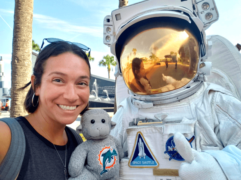 Photo op with astronaut at Kennedy Space Center
